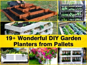 19+ Wonderful DIY Garden Planters from Pallets