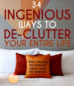 best ways to simplify life, de-clutter