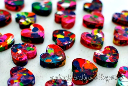 How to Make Marbled Heart Crayons
