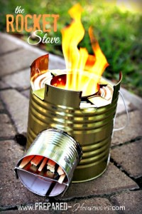 How to Build a #10 Can ROCKET STOVE: It Cooks an Entire Meal With Twigs!