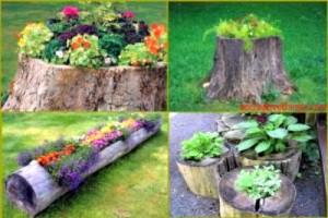 DIY Natural Garden Planters