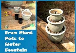 How to Make a Flower Pot Water Fountain