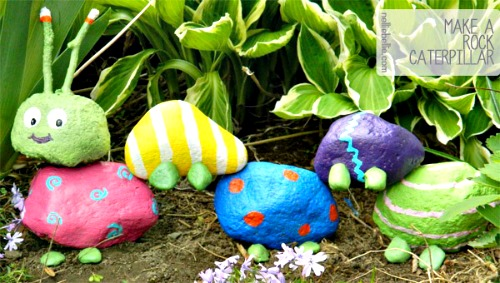 How to Make a Garden Rock Caterpillar