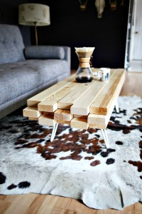 Super Neat DIY Wooden Coffee Table