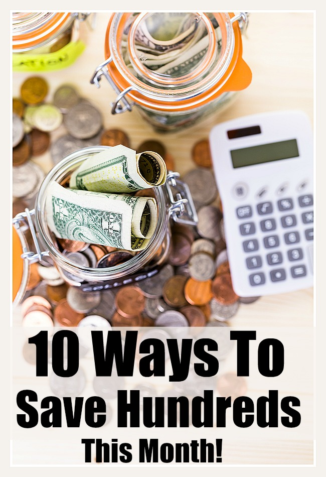 10 Ways to Save Hundreds