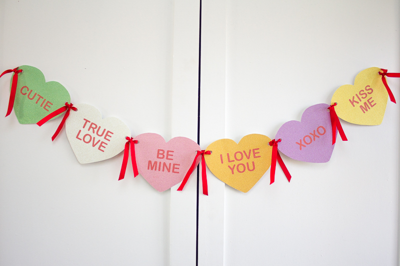 DIY Valentine Conversation Heart Banner